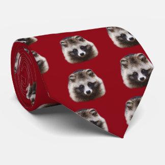 Raccoon dog tie