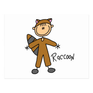 Raccoon Dress Up T-shirts and Gifts Postcard