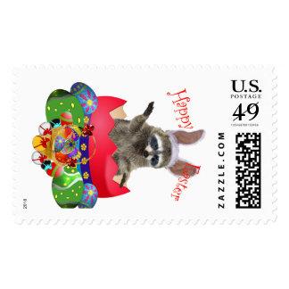 Raccoon Easter Egg Postage