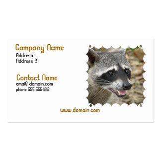 Raccoon Face Business Card