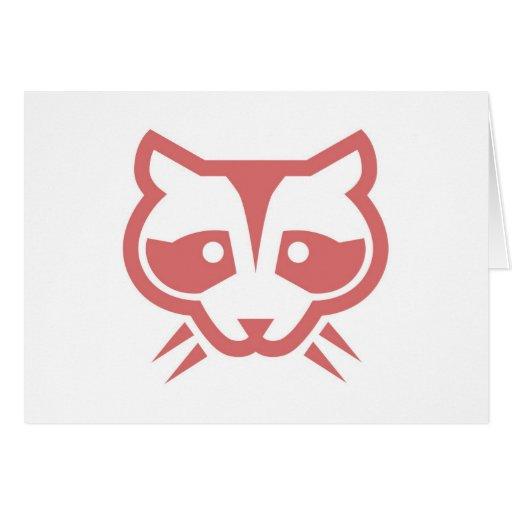Raccoon Face Card