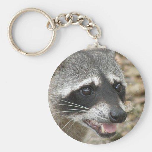 Raccoon Face Keychain