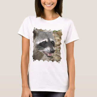 Raccoon Face Ladies Fitted T-Shirt
