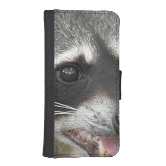 Raccoon Face iPhone 5 Wallet Cases