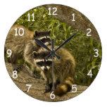 Raccoon Family Clock