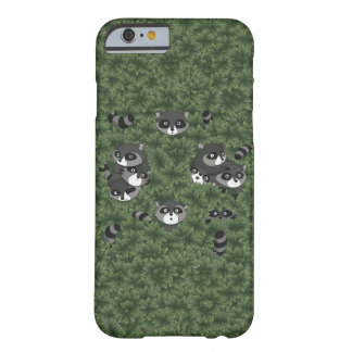 Raccoon Family in a Bush Barely There iPhone 6 Case