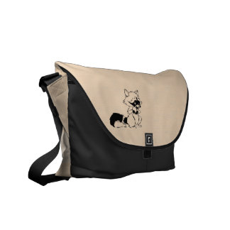 Raccoon Gang and Craft Coon Messenger Bag