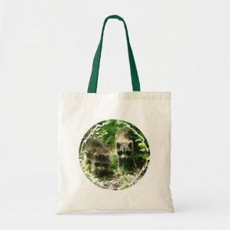 Raccoon Habitat Small Canvas Bag