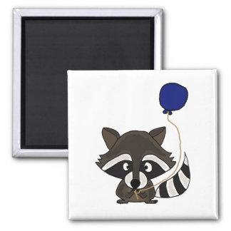 Raccoon Holding Balloon Refrigerator Magnet