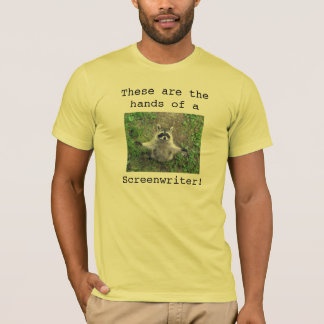 Raccoon Hug Shirt Screenwriter