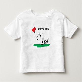 """Raccoon """"I Love You"""" Tee Shirt"""