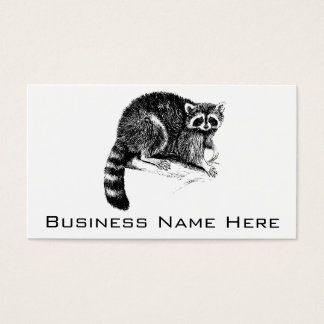 Raccoon Illustration Business Card
