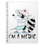 Raccoon: I'm a medic Spiral Note Books