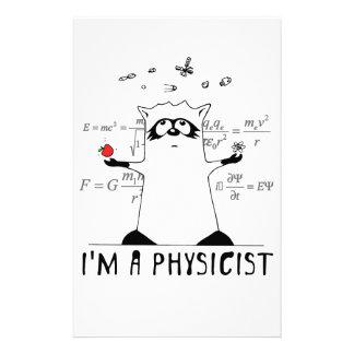 Raccoon: I'm a Physicist Stationery