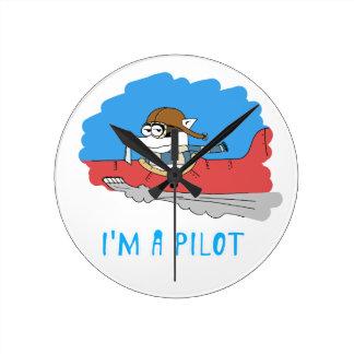Raccoon: I'm a Pilot Round Wallclocks