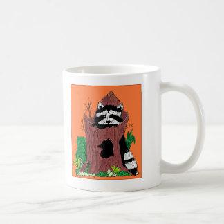 raccoon in log coffee mug