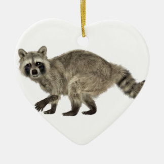 Raccoon In Side Profile Ceramic Ornament