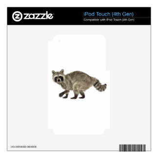 Raccoon In Side Profile iPod Touch 4G Decal