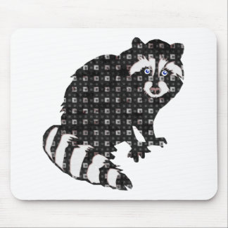 Raccoon in the Checkered Pajamas Mouse Pad