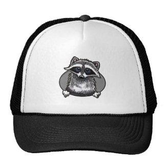 Raccoon Line Art Trucker Hat