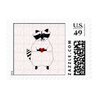 Raccoon Love Postage
