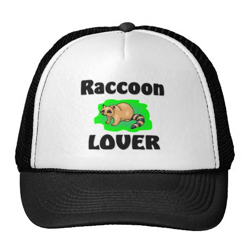 Raccoon Lover Trucker Hats