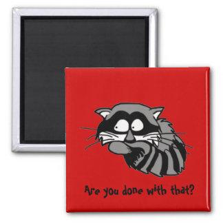 Raccoon Refrigerator Magnet