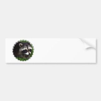 Raccoon Mask Bumper Sticker Car Bumper Sticker