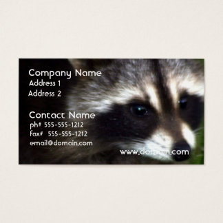 Raccoon Mask Business Cards
