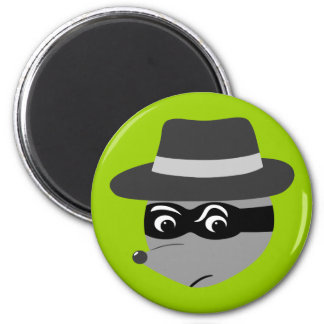 Raccoon Mobster Refrigerator Magnet