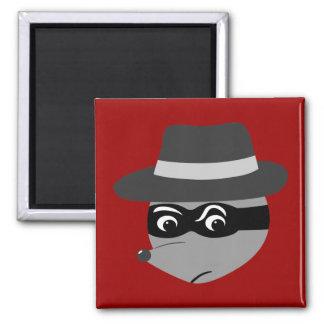 Raccoon Mobster Fridge Magnet