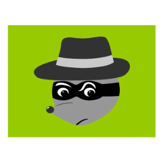 Raccoon Mobster Post Card
