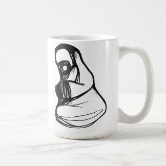 raccoon monk coffee mug