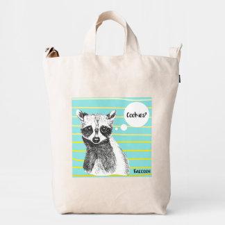 Raccoon needs cookies! duck bag