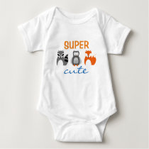 Raccoon Owl Fox Animal Super Cute Baby Bodysuit