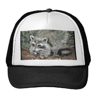Raccoon Painting Trucker Hat