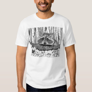 Raccoon Pen and Ink Drawing T Shirts