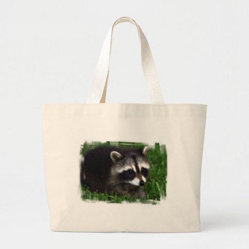 Raccoon Photo Canvas Bag