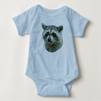 Raccoon Picture Baby Infant Creeper