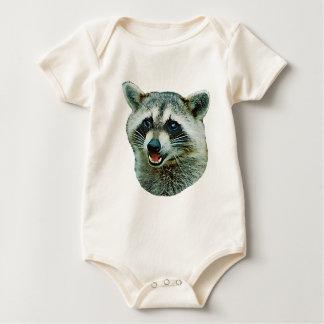 Raccoon Picture Baby Bodysuits
