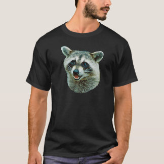 Raccoon Picture Dark T-Shirt