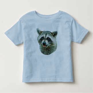 Raccoon Picture Toddler Ringer T-Shirt