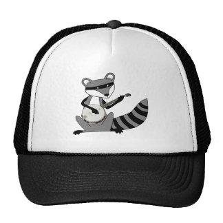 Raccoon Playing the Banjo Trucker Hat