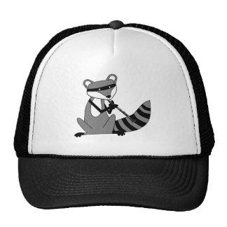 Raccoon Playing the Clarinet Trucker Hat