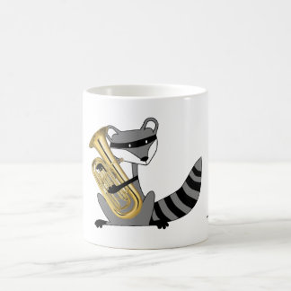 Raccoon Playing the Euphonium Coffee Mug