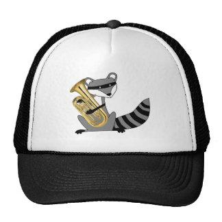 Raccoon Playing the Euphonium Trucker Hat