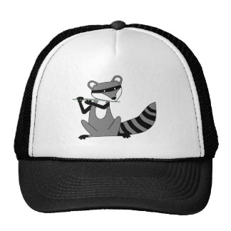 Raccoon Playing the Flute Trucker Hat