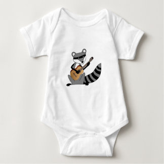 Raccoon Playing the Guitar Baby Bodysuit