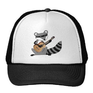 Raccoon Playing the Guitar Trucker Hat