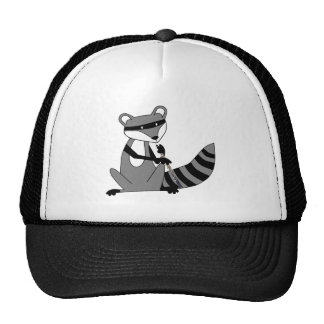 Raccoon Playing the Oboe Trucker Hat